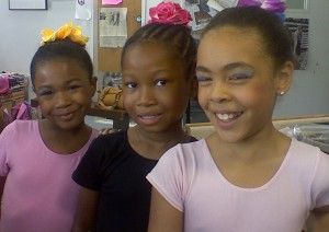 Three young dancers